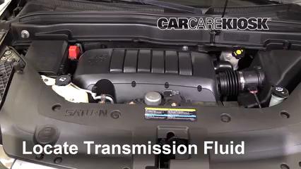 2010 Saturn Outlook XE 3.6L V6 Pérdidas de líquido Líquido de transmisión (arreglar pérdidas)