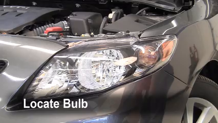 2010 Toyota Corolla S 1.8L 4 Cyl. Lights Turn Signal - Front (replace bulb)