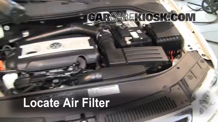 2010 Volkswagen Passat Komfort 2.0L 4 Cyl. Turbo Wagon Air Filter (Engine) Replace