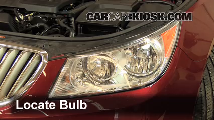 2011 Buick LaCrosse CX 2.4L 4 Cyl. Lights Highbeam (replace bulb)