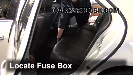interior fuse box location: 2004-2009 cadillac srx