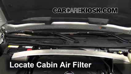2011 Cadillac STS 3.6L V6 Air Filter (Cabin) Check