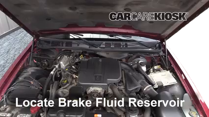 2011 Ford Crown Victoria LX 4.6L V8 FlexFuel Brake Fluid Add Fluid