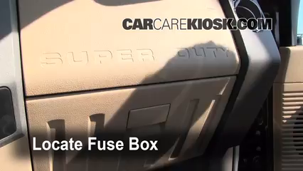 interior fuse box location: 2008-2016 ford f-250 super duty