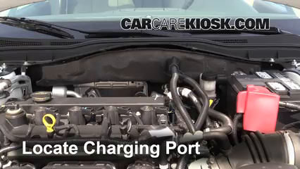 how to add refrigerant to a 2010-2012 ford fusion - 2010 ford fusion hybrid  2 5l 4 cyl
