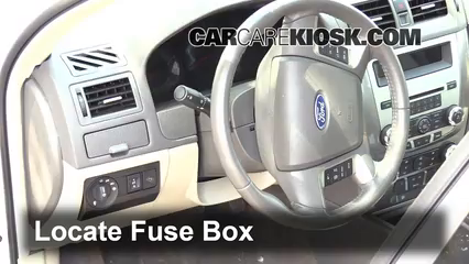 Interior Fuse Box Location: 2010-2012 Ford Fusion - 2011 Ford Fusion SE  2.5L 4 Cyl.CarCareKiosk