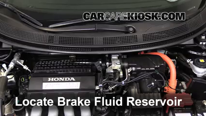 2011 Honda CR-Z EX 1.5L 4 Cyl. Brake Fluid Check Fluid Level