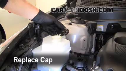 secure the coolant reservoir cap