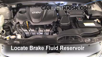 2011 Hyundai Sonata GLS 2.4L 4 Cyl. Brake Fluid Add Fluid