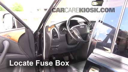 interior fuse box location 2011 2013 infiniti qx56 2011 infiniti