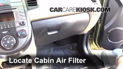 cabin filter replacement kia soul 2010 2013 2011 kia. Black Bedroom Furniture Sets. Home Design Ideas