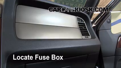 interior fuse box location: 2003-2017 lincoln navigator