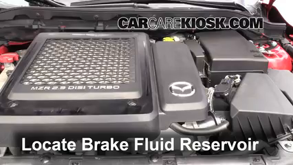 2011 Mazda 3 Mazdaspeed 2.3L 4 Cyl. Turbo Brake Fluid Check Fluid Level