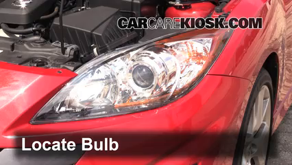2011 Mazda 3 Mazdaspeed 2.3L 4 Cyl. Turbo Lights Headlight (replace bulb)