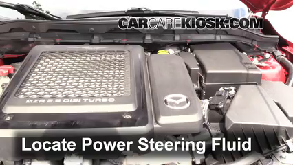 2011 Mazda 3 Mazdaspeed 2.3L 4 Cyl. Turbo Power Steering Fluid Check Fluid Level