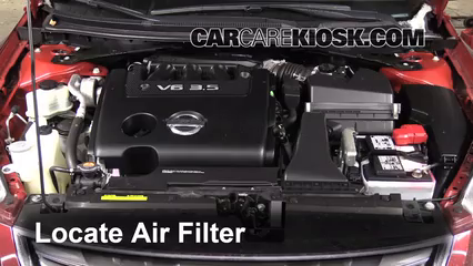 2011 Nissan Altima SR 3.5L V6 Sedan Air Filter (Engine)