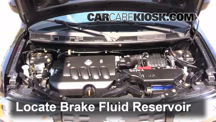 2011 Nissan Cube S 1.8L 4 Cyl. Brake Fluid Add Fluid