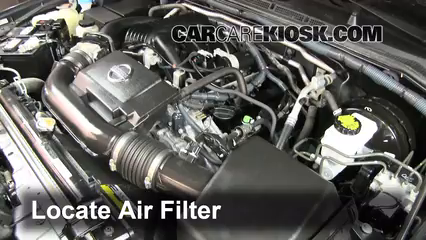 2003 nissan frontier fuel filter location