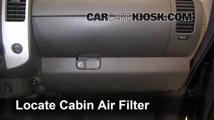 2011 Nissan Xterra S 4.0L V6 Air Filter (Cabin) Check