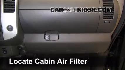 Cabin Filter Replacement: Nissan Xterra 2000-2004 - 2002 ...