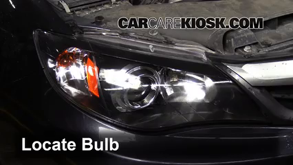 2011 subaru wrx headlight bulb