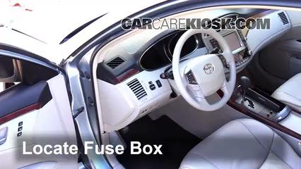 Interior Fuse Box Location: 2005-2012 Toyota Avalon - 2012 Toyota Avalon  Limited 3.5L V6CarCareKiosk