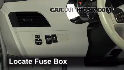 Tremendous Interior Fuse Box Location 2011 2017 Toyota Sienna 2011 Toyota Wiring Digital Resources Sulfshebarightsorg