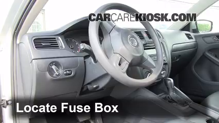 2011 Volkswagen Jetta SE 2.5L 5 Cyl. Sedan%2FFuse Interior Part 1 interior fuse box location 2011 2016 volkswagen jetta 2011 2015 Jetta Fuse Box Diagram at mifinder.co