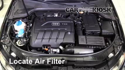 2011 Audi A3 TDI 2.0L 4 Cyl. Turbo Diesel Filtro de aire (motor)