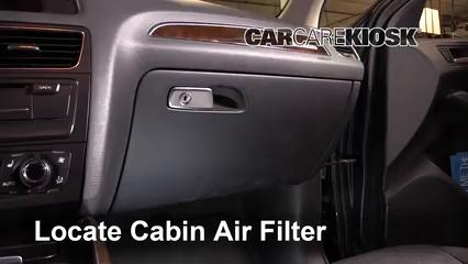 2011 Audi Q5 Premium Plus 2.0L 4 Cyl. Turbo Filtre à air (intérieur)