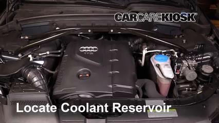 2011 Audi Q5 Premium Plus 2.0L 4 Cyl. Turbo Refrigerante (anticongelante) Controlar nivel de líquido
