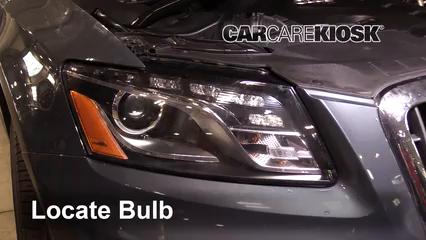 2011 Audi Q5 Premium Plus 2.0L 4 Cyl. Turbo Luces Luz de estacionamiento (reemplazar foco)