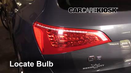 2011 Audi Q5 Premium Plus 2.0L 4 Cyl. Turbo Luces Luz trasera (reemplazar foco)