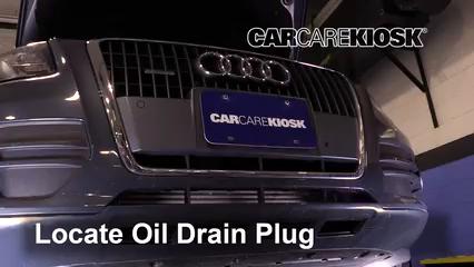 2011 Audi Q5 Premium Plus 2.0L 4 Cyl. Turbo Aceite Cambiar aceite y filtro de aceite