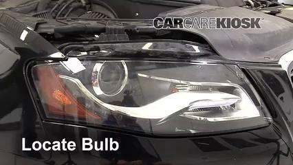 2011 Audi S4 3.0L V6 Supercharged Éclairage Feux de route (remplacer l'ampoule)