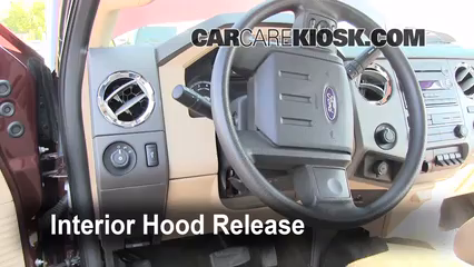 2011 Ford F-250 Super Duty XLT 6.2L V8 FlexFuel Standard Cab Pickup Capot
