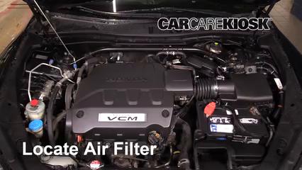2011 Honda Accord Crosstour EX-L 3.5L V6 Filtre à air (moteur)