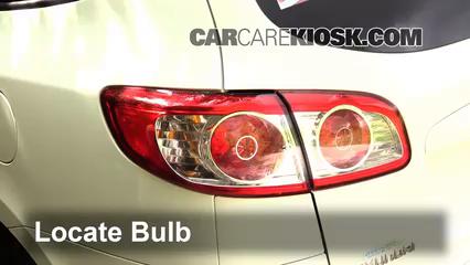 2011 Hyundai Santa Fe GLS 2.4L 4 Cyl. Luces Luz de reversa (reemplazar foco)