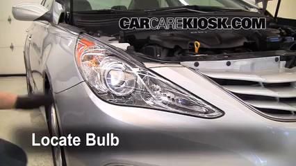 2011 Hyundai Sonata GLS 2.4L 4 Cyl. Lights Highbeam (replace bulb)