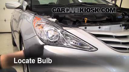 2011 Hyundai Sonata GLS 2.4L 4 Cyl. Luces Faro delantero (reemplazar foco)