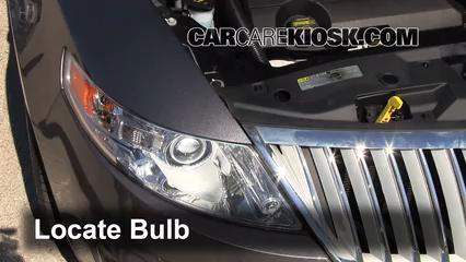 2011 Lincoln MKS 3.7L V6 Luces Luz de carretera (reemplazar foco)