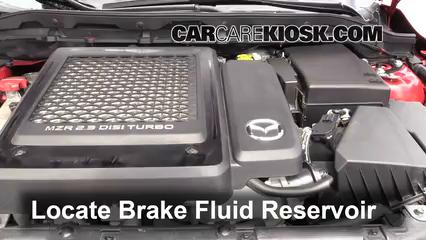 2011 Mazda 3 Mazdaspeed 2.3L 4 Cyl. Turbo Brake Fluid Check Fluid Level