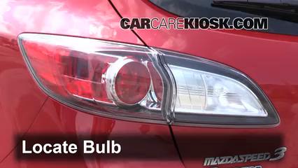 2011 Mazda 3 Mazdaspeed 2.3L 4 Cyl. Turbo Lights Tail Light (replace bulb)