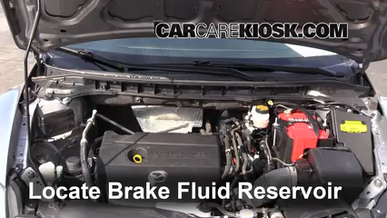 2011 Mazda CX-7 Sport 2.5L 4 Cyl. Brake Fluid Check Fluid Level