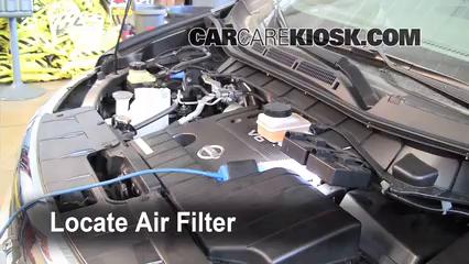 2011 Nissan Quest SL 3.5L V6 Filtro de aire (motor) Control