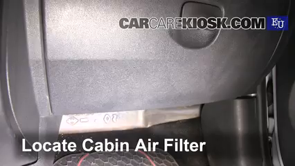 2011 Renault Clio dCi 1.5L 4 Cyl. Turbo Diesel Filtro de aire (interior) Control