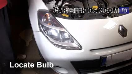 2011 Renault Clio dCi 1.5L 4 Cyl. Turbo Diesel Luces Luz de carretera (reemplazar foco)
