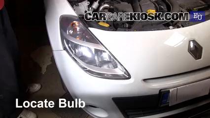 2011 Renault Clio dCi 1.5L 4 Cyl. Turbo Diesel Luces Faro delantero (reemplazar foco)
