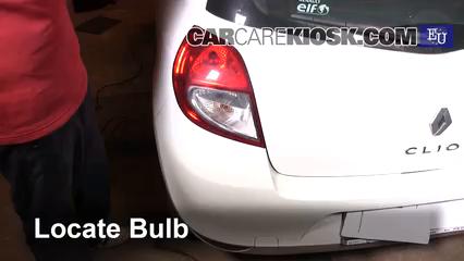 2011 Renault Clio dCi 1.5L 4 Cyl. Turbo Diesel Luces Luz de reversa (reemplazar foco)