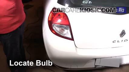 2011 Renault Clio dCi 1.5L 4 Cyl. Turbo Diesel Luces Luz de giro trasera (reemplazar foco)